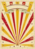 Rayons de soleil vintage de cirque — Vecteur