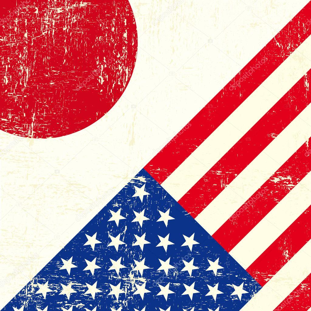 usa and japanese grunge flag � stock vector 169 tintin75