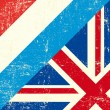 Wektor stockowy : UK and luxembourg grunge Flag