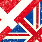 English and Denmark grunge Flag. — Stock Vector