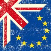 British and european grunge Flag. — Stock Vector