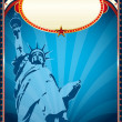 Poster with the Statue of liberty — Stock Photo #29997661