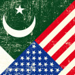 Vector de stock : USand Pakistani grunge Flag.