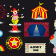Circus set. — Stock Vector