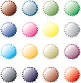 Многоцветная бутылочных крышек — Cтоковый вектор