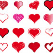 Set of hearts for the valentine's day — Stockvectorbeeld