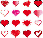 Set of hearts for the valentine's day — Stock Vector