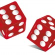 Red dice. — Stock Vector #30022643