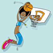 Basketball player — Stock Vector