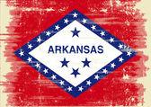 Arkansas grunge Flag. — Stock Vector