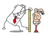 Illustration of man tailor — Stock Vector
