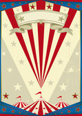 Circus vintage poster — Stock Vector