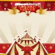 Fantastic christmas circus invitation — Stock Vector