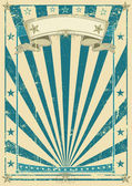 Retro blue poster. — Stock Vector