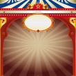 Wonderful circus vintage background — Stock Vector