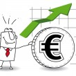 Euro is growing up — Stock Vector