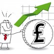 Stock Vector: Pound sterling is growing up