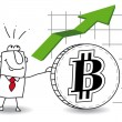 Bitcoin is growing up — Stock Vector