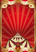 Red circus baroque frame — Vecteur