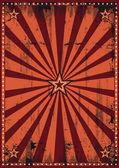 Dirty red sunbeams — Stock Vector
