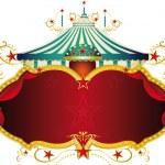 Magic blue baroque circus frame — Stock Vector #39252105