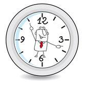 Arbeitszeit — Stockvektor
