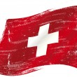 Swiss flag grunge — Stock Vector