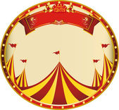 Sticker yellow red circus — Stock Vector