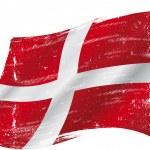 Danish grunge flag — Stock Vector #41631363