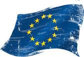 European grunge flag — Stock Vector