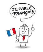 I speak french — Vetor de Stock