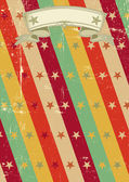 Vintage poster with stars — Vector de stock