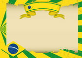 Brazil scratched horizontal background — Stok Vektör
