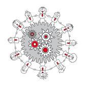 Teamwork business — Stock Vector