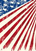 American patriotic flag — Stock Vector