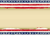 Horizontal American dirty flag — 图库矢量图片