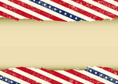 Horizontal USA dirty background — Stock Vector