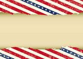 Horizontal USA dirty background — Stock Vector