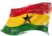 Waving Ghanaian grunge flag — Stock Vector