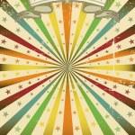 Multicolor Sunbeans grunge poster — Stock Vector #7541235