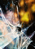 Rozbité okno — Stock fotografie
