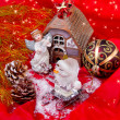 Stock Photo: Christmas still-life with angel and ornament