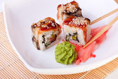Rolls with eel and sesame — Stock Photo