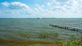 Lake Nero. Old pier — Stock Photo