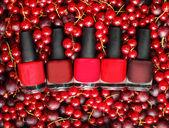 Nail polish - beauty salon cosmetics background, summer colors — Stock Photo