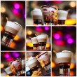Coffee - party cocktails, Christmas — Stock Photo
