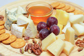 Gourmet cheese, restaurant food background — Stock Photo