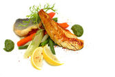 White fish with vegetable — Stock Photo