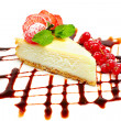 Cheesecake - gourmet food, desserts — Stock Photo