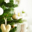 Stock Photo: Christmas tree with decor closeup (shallow depth of field)